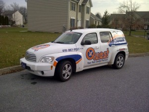 quest pest control company car